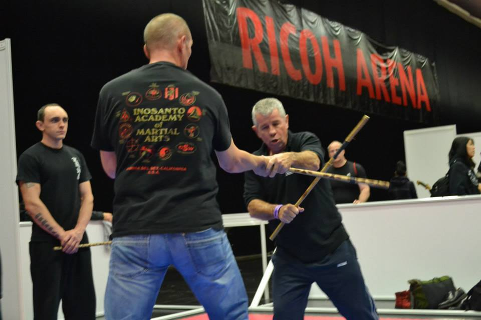 Teaching at the Rico arena with G.M, John Harvey