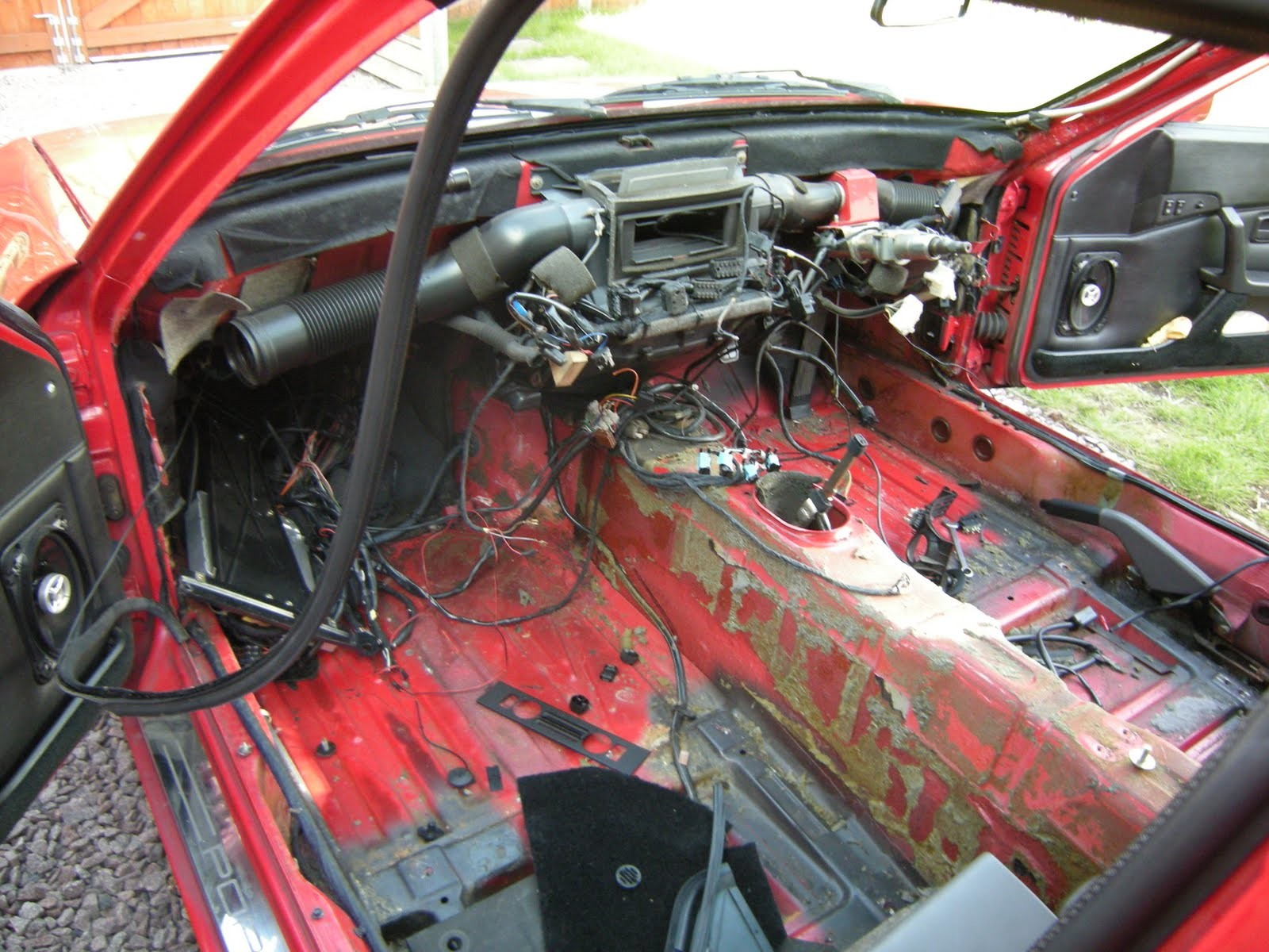 interior being stripped out