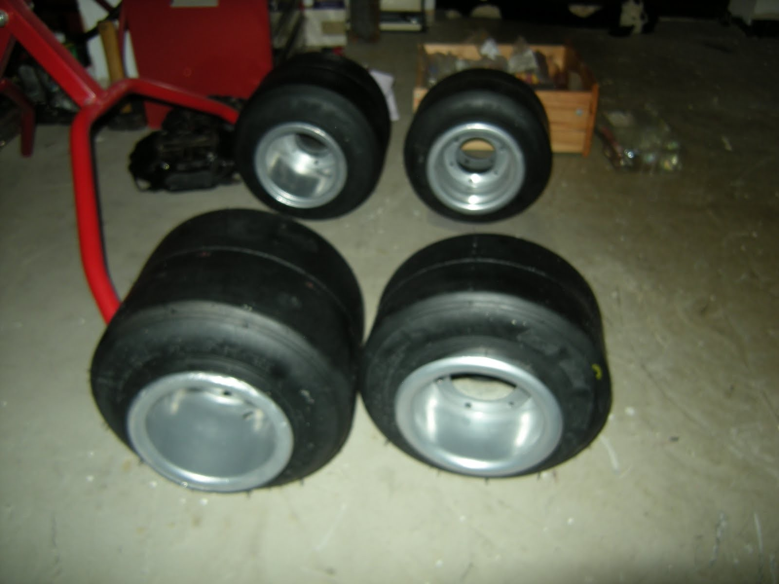 wheels refurbished with new tyres