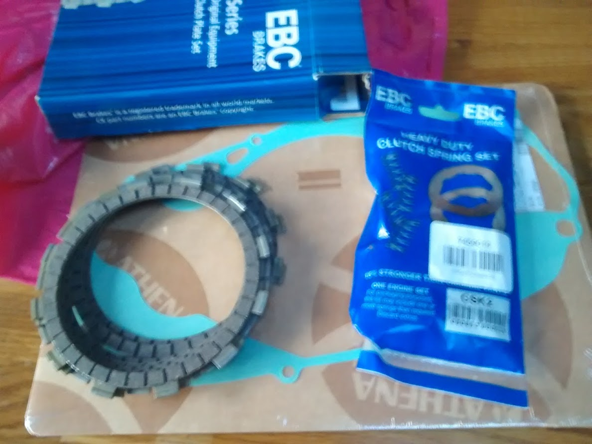 new up-rated clutch plates and stronger springs