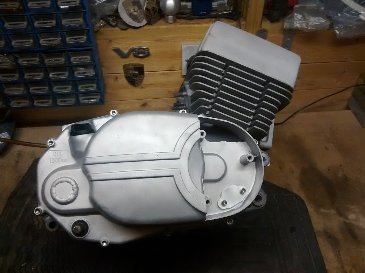 modified clutch cover fitted